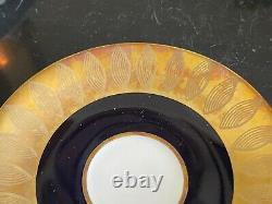 Vintage Echt Weimar Cobalt Blue and Gold Harmonie Pattern 7326 Coffee Set
