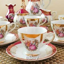 Vintage Fragonard Lusterware 18pcs Coffee Set, Japan