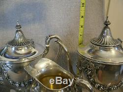 Vintage Frank Whiting Sterling Silver Tea Coffee Set Style 5 Pc 6719 NOT SCRAP