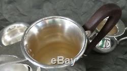 Vintage German EMIL HERRMANN, Waldstetten Sterling Silver 3 pc. Mocha/Coffee Set