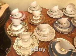 Vintage German Mixed 17 cup saucer cake plates Bavaria Winterling etc