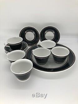 Vintage Gustavberg TFRRA Stig Lindberg Design Sweden 13 Piece Coffee Set