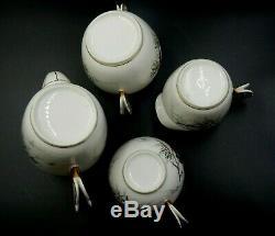 Vintage Haviland Limoges France Butterfly Handled 9 (nine) Piece Tea Coffee Set