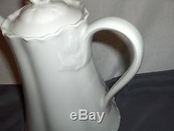Vintage Hutschenreuther Selb Germany Racine White 13 Pc Coffee Set NICE