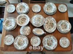 Vintage Johnson Brothers INDIAN TREE DINNER + COFFEE SET SERVICE 6 settings 44pc
