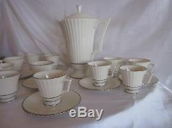 Vintage Lenox Ivory Colonnade Coffee Set 24 PC