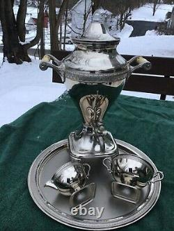Vintage Manning Bowman & Co Metalware Coffee Electric Percolator/Urn serving set
