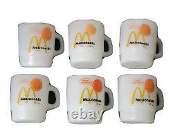Vintage Mcdonald's Fire King Coffee Mugs Anchor Hocking Good Morning Set Of 6