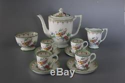 Vintage Minton B1255 The Ho Ho Bird Coffee Set for 4