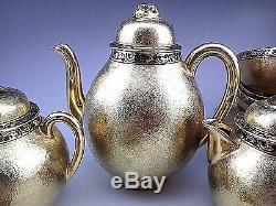 Vintage Nagoya Shofu Nippon Gold Tea Coffee Set for Four