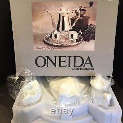 Vintage Oneida Baronet Silverplate 4 Piece Coffee Tea Service Set UNOPENED