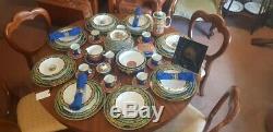 Vintage Original Versace Rosenthal Dinner & Coffee Setting for 8