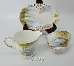 Vintage PARAGON Cliffs of Dover Tea Coffee 15 Pc Set Cups Plates Saucers Sugar