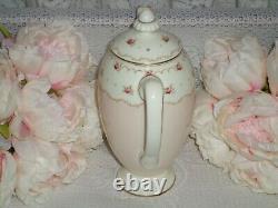 Vintage Pink & Ditsy Roses Art Deco Royal Doulton Minuet Coffee Set 1935-1940