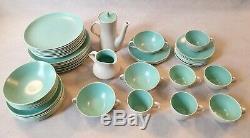 Vintage Poole Pottery Twintone Dining Set 8 Dining Set 6 Tea Coffee Set 52 Items