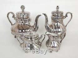 Vintage Porcelain Tea & Coffee Set, Hutschenreuther Germany Sterling Silver