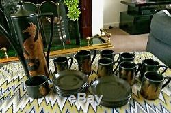 Vintage Portmeirion Coffee Set Phoenix by John Cuffley Made in England