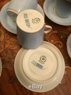 Vintage RARE 12 cups 12 Saucer Denmark Royal Copenhagen Porcelain Coffee Set