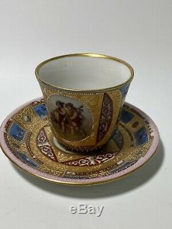 Vintage ROYAL VIENNA STYLE PORCELAIN COFFEE SET