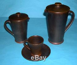 Vintage Rainham (Upchurch) Studio Pottery 1970's Coffee Set 15 Piece Plus Lids
