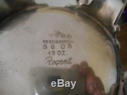 Vintage Reed & Barton 5605 Regent Silverplate Tea Or Coffee Set
