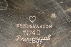 Vintage Reed & Barton Provincial 7040 5 Pc Silverplated Tea /coffee Set & Tray