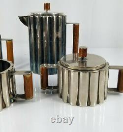 Vintage Reproduction Ilonka Karasz Tea Coffee Service Set Silverplate MCM