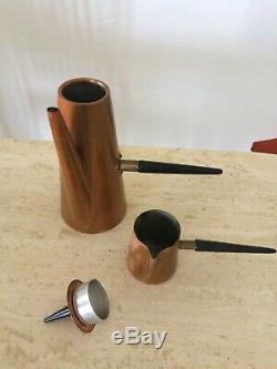 Vintage Retro Mid Century Copper Coffee Set Modernist Atomic Douro Portugal