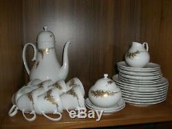 Vintage Rosenthal Bjorn Wiinblad Romance 31 Pc 24k Gold Coffee Set Rare