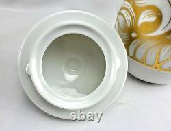 Vintage Rosenthal Coffee Set Coffee pot creamer sugar bowl gold and white