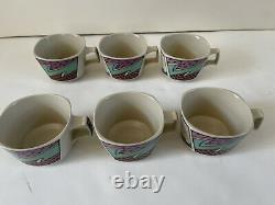 Vintage Rosenthal Studio Tea / Coffee Cups Flash Dorothy Hafner Set of 6