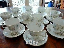 Vintage Royal Albert Haworth 15pc Coffee Set Cup Saucer Milk Jug Sugar Bowl