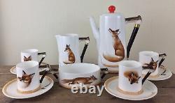 Vintage Royal Doulton Reynard The Fox Demitasse Coffee Set Porcelain