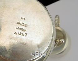 Vintage Sanborns Aztec Design Mexican Sterling Silver Creamer Sugar Coffee Set