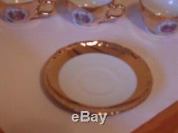 Vintage Schumann Arzberg Bavaria Germany Fragonard 22 Carat Gold Coffee Set