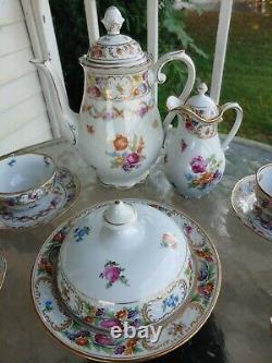 Vintage Schumann EMPRESS DRESDEN 16 pc. Tea or Coffee Set