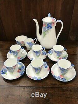 Vintage Shelly Fine Bone English China Tea / Coffee Set Flower Decoration