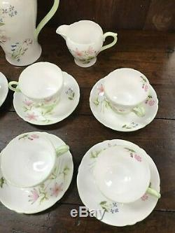 Vintage Shelly Fine Bone English China Tea / Coffee Set Wild Anemone 13977