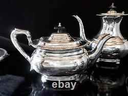 Vintage Silver Plate Coffee Tea Set Art Deco Israel Freeman Sheffield England