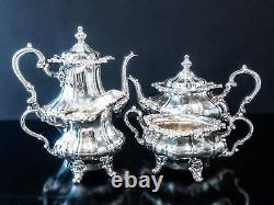 Vintage Silver Plate Tea Set Coffee Service Set Rosewood By Gorham Ornate