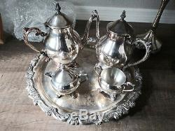 Vintage Silver Plated Coffee Set 14 Items Silversmiths USA Quality