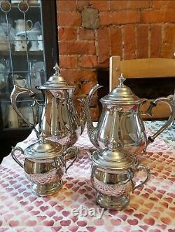 Vintage Silver Plated on Copper Afternoon Tea & Coffee Set 4 pieces by TOWLE