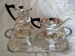 Vintage Solid Silver 4 piece tea / coffee set, weight 1910 grams