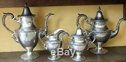 Vintage Sterling Silver Jordan Marsh Tea and Coffee Set