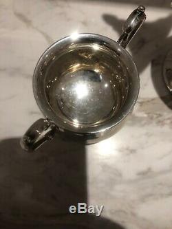 Vintage Sterling Silver Tea / Coffee Set 3 Pc 633 Grams