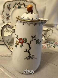 Vintage Tuscan Plant China 40 Piece Tea & Coffee Set, Bird Of Paradise