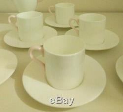 Vintage Wedgwood 1930s Art Deco Coffee Set White & Pink Louise Powell Design