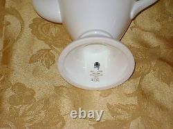 Vintage Wedgwood Asia Coffee Set Pot 6 Cups & Saucers Black Gold Bone China