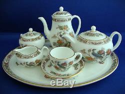 Vintage Wedgwood complete Miniature Tea/Coffee Set on Tray in Kutani Crane