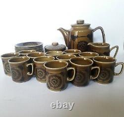 Vintage ceramic stavangerflint norway coffee set by Inger Waage